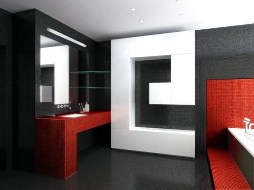 Отделка-стен-ванной-мозаикой