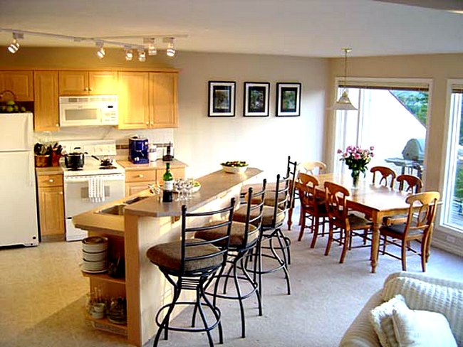 Дизайн кухни совмещенной со столовой фото