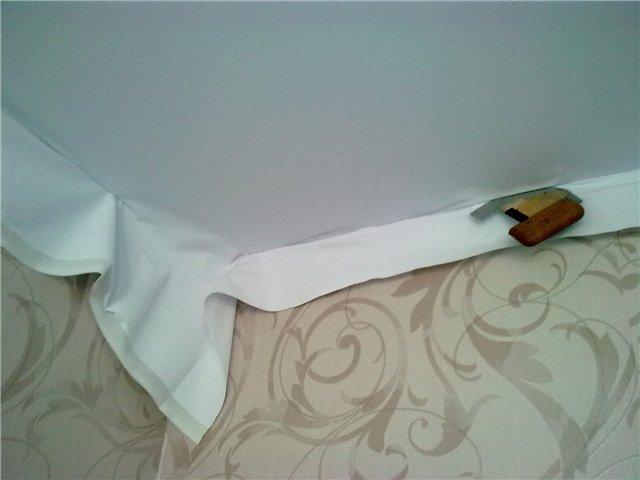 Ткань для натяжных потолков своими руками