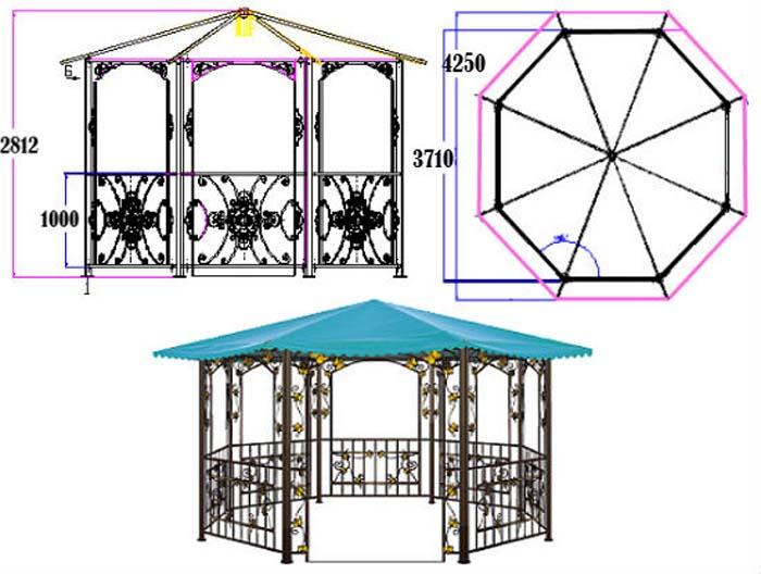Садовые беседки с барбекю чертежи и варианты дизайна