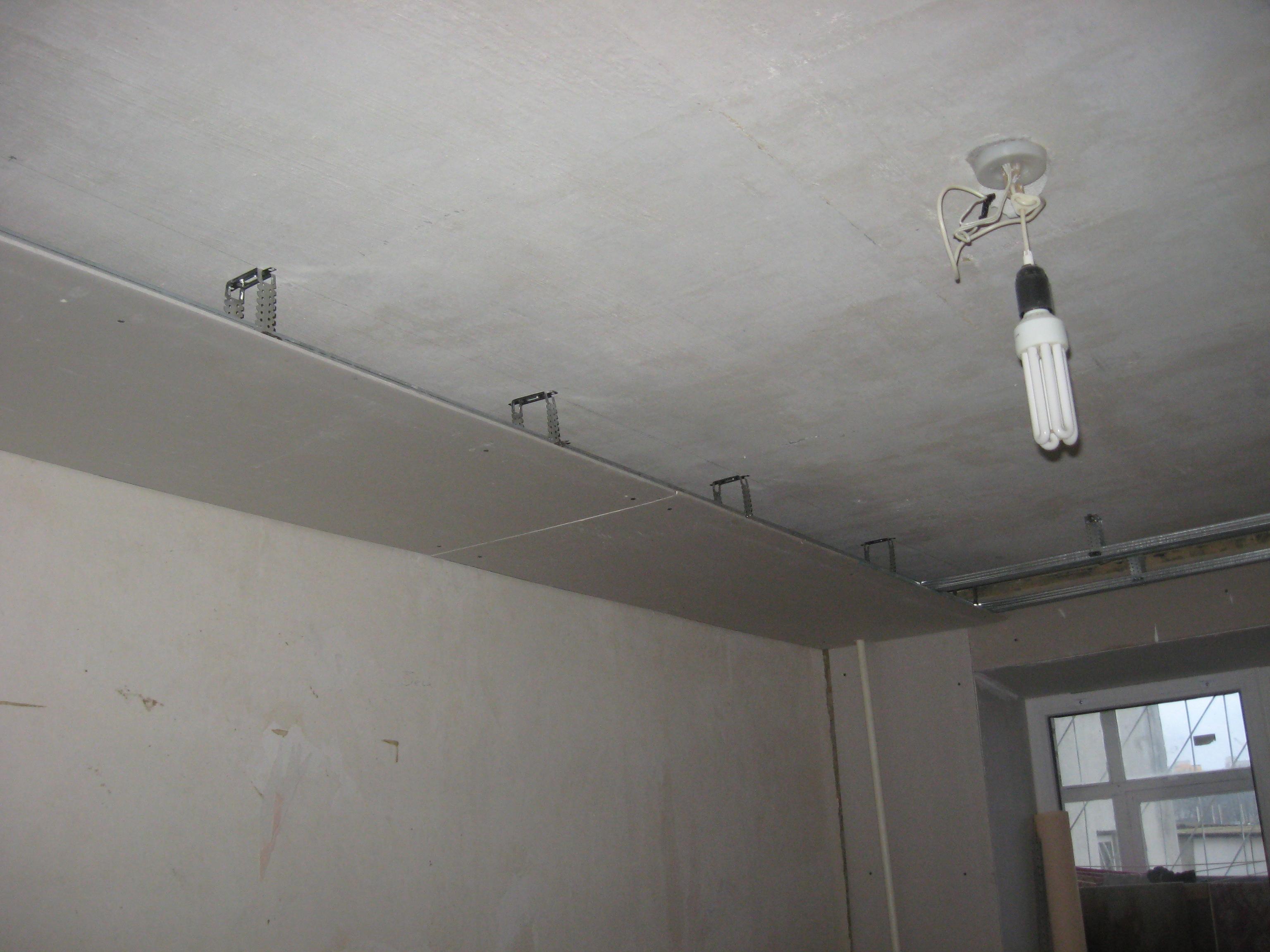 Двухуровневый потолок гипсокартоном своими руками фото
