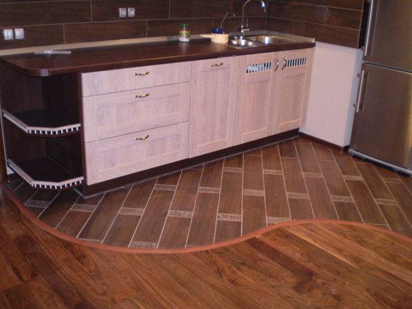 Дизайн пола кухни фото
