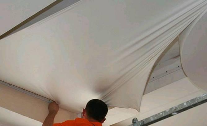 Как сделать тканевый потолок