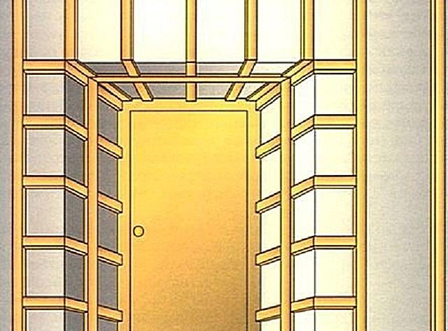 установка входной двери на профиль