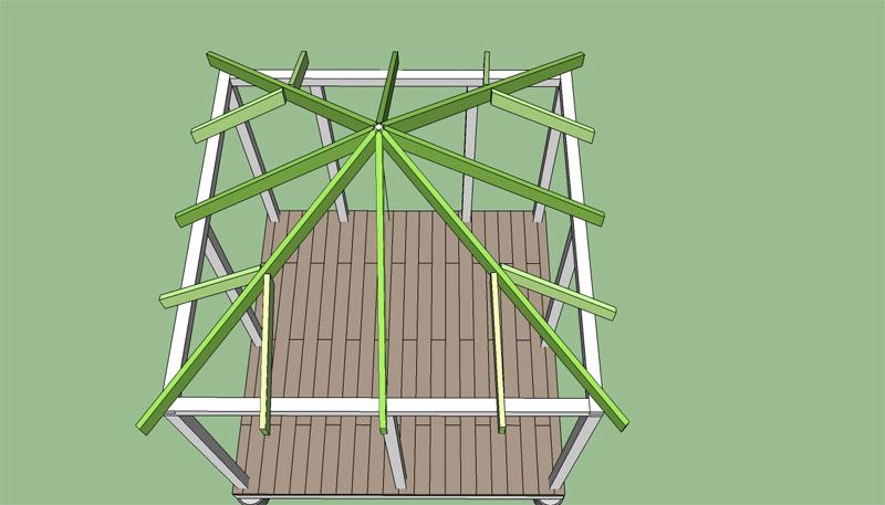 Как сделать четырехскатную крышу в беседке своими руками