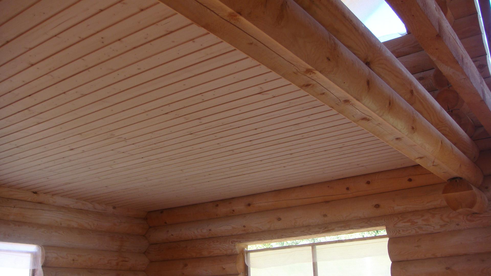 Как сделать деревянный потолок фото