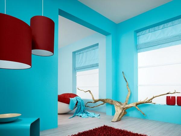 Дизайн стен в квартире водоэмульсионной краской