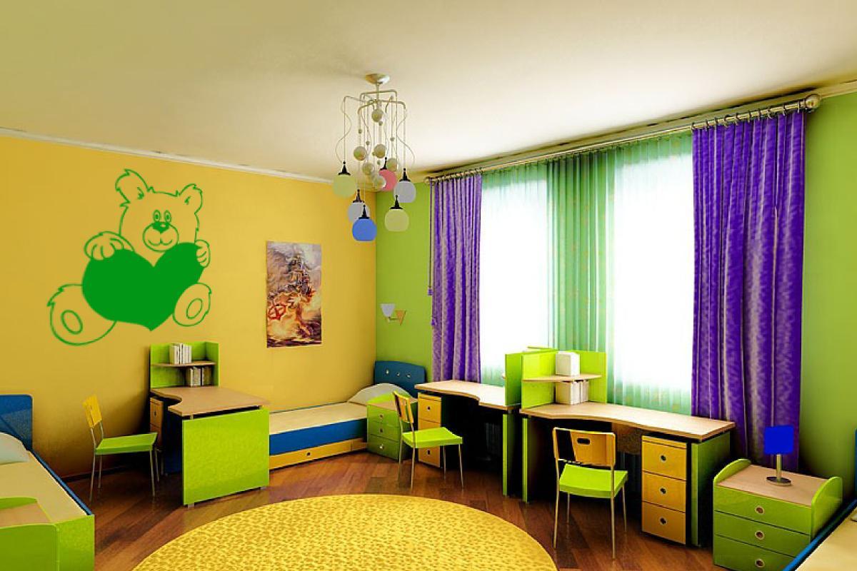 Как красиво покрасить комнату в два цвета