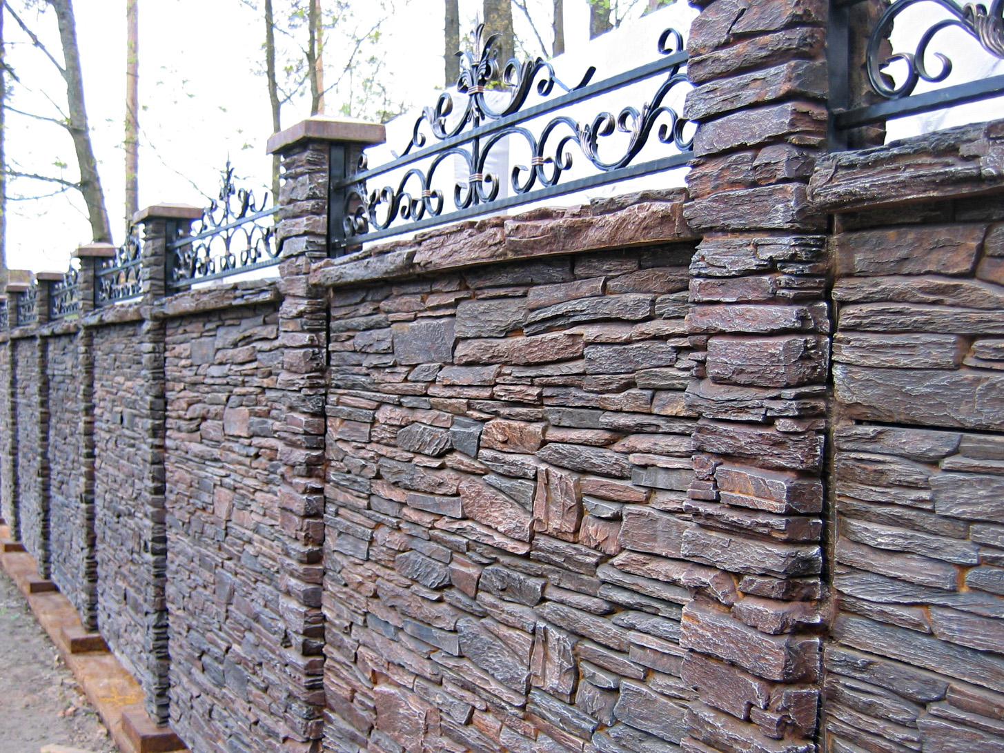 Построить забор камень своими руками