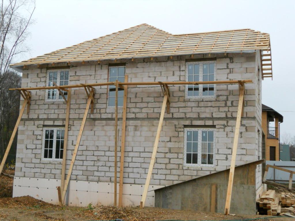 Дом из пенобетона фото