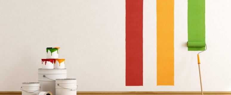Pri barvanju sten ostanejo madeži