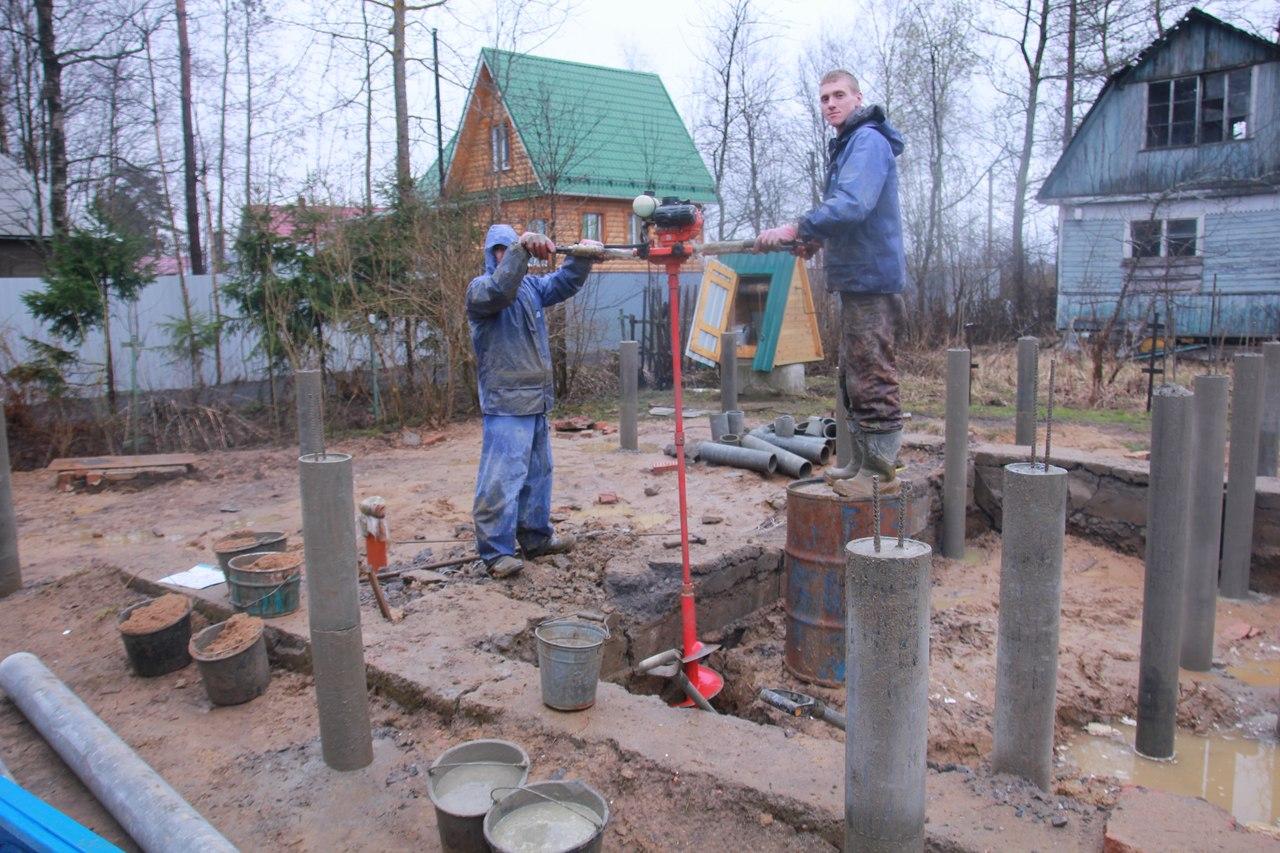 Свайный фундамент своими руками: пошаговая инструкция, видео 87