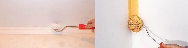 Покраска бумажных обоев своими руками Ремонт квартир СПб