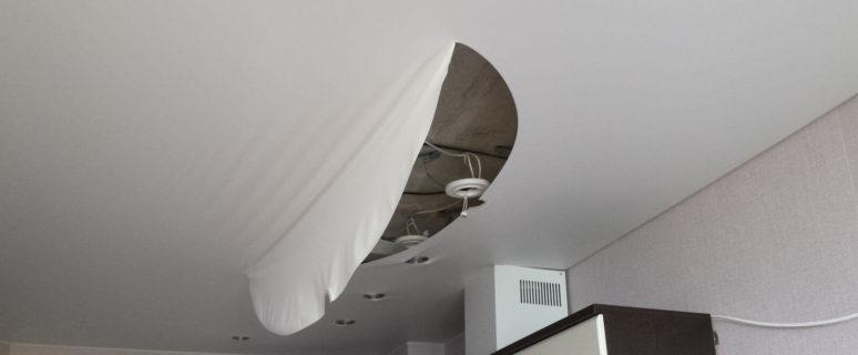 полотно на потолок фото натяжное