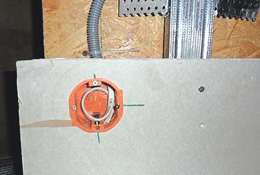 Монтаж электропроводки по гипсокартону 15