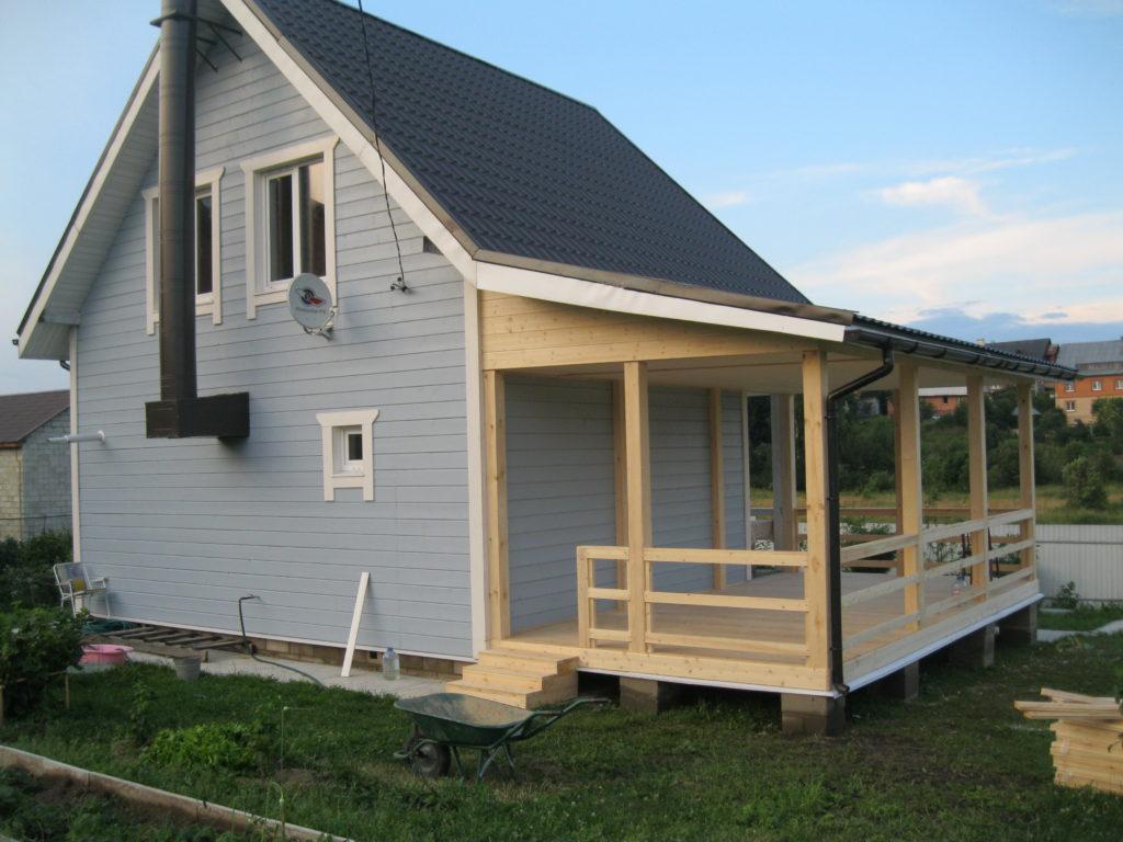 Пристроить веранду к деревянному дому своими руками 96