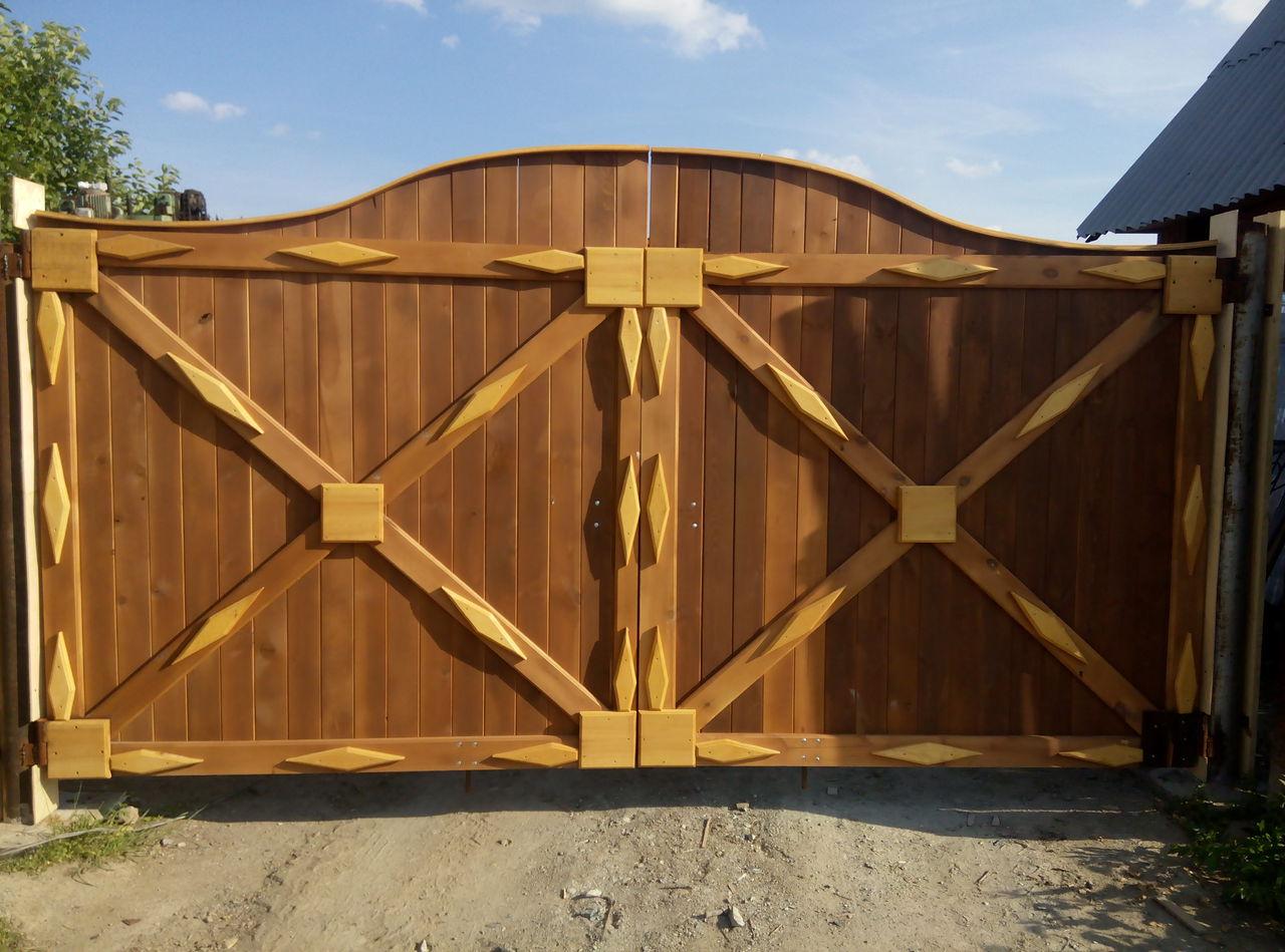Как сделать ворота деревянные