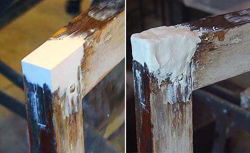 Дефекты можно устранить с помощью шпаклевки